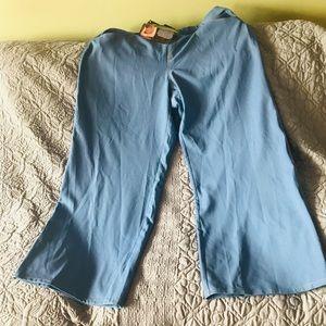 Iman wide length pants, petite, denim-look, HSN